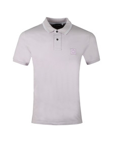 Ma.Strum Mens Purple Icon Tipped Pique Polo
