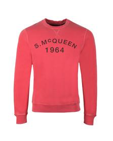 Barbour Int. Steve McQueen Mens Pink Vintage Crew Sweatshirt