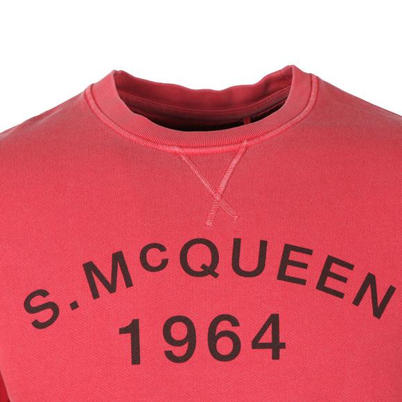 Barbour Int. Steve McQueen Mens Pink Vintage Crew Sweatshirt main image