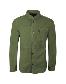Barbour Lifestyle Mens Green Seaton Overshirt