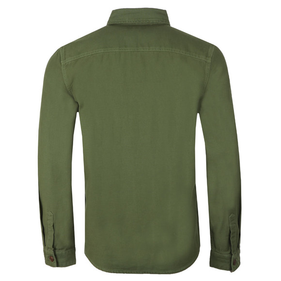 Barbour Lifestyle Mens Green Seaton Overshirt main image