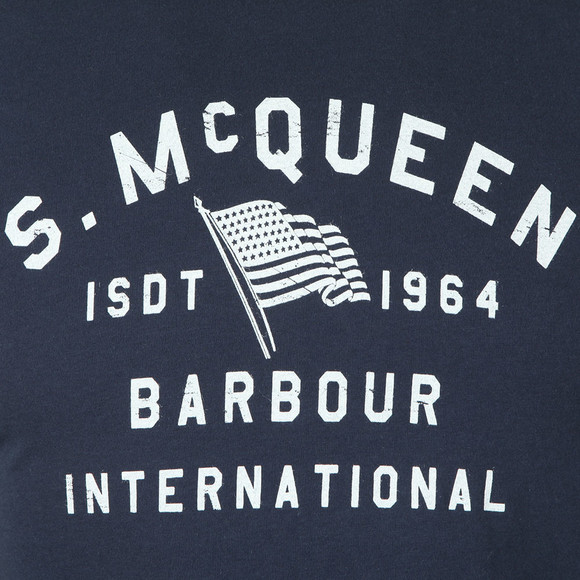 Barbour Int. Steve McQueen Mens Blue Boon T-Shirt main image