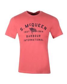 Barbour Int. Steve McQueen Mens Pink Boon Tee