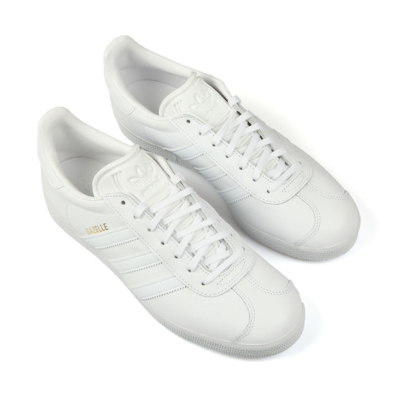 adidas Originals Mens White Gazelle Leather Trainer main image