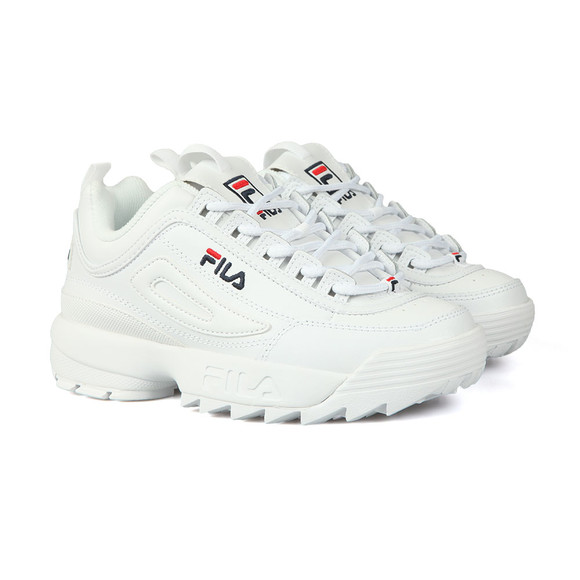 Fila Womens White Disruptor II  Premium Trainer