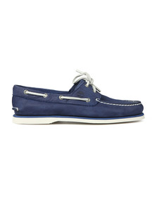 Timberland Mens Blue Nubuck Boat Shoe