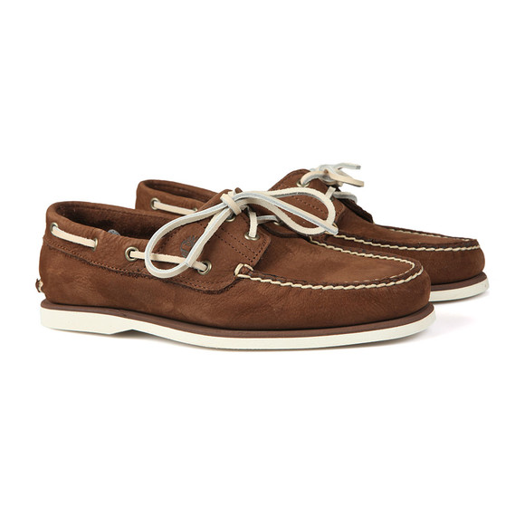 Timberland Mens Brown Nubuck Boat Shoe main image
