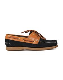 Barker Mens Blue Wallis Boat Shoe