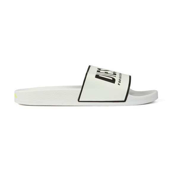 Diesel Mens White Valla Slide