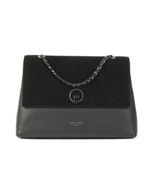 Ted Baker Womens Black Shillah Circle Lock Shoulder Bag