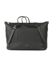 Ted Baker Womens Black Oellie Knotted Handle Large Tote Bag