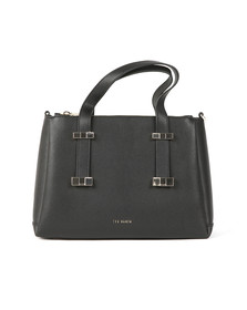 Ted Baker Womens Black Julieet Bow Adjustable Handle Small Tote