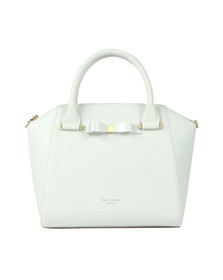 Ted Baker Womens White Janne Bow Detail Zip Tote
