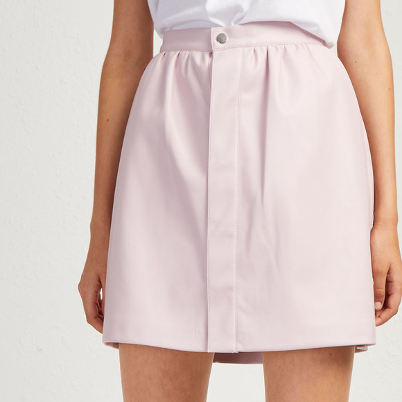 French Connection Womens Pink BIA Pu Mini Skirt  main image