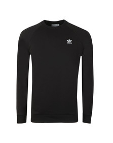 adidas Originals Mens Black Essential Crew Sweat