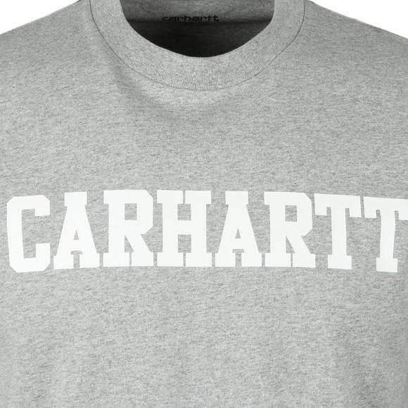 Carhartt WIP Mens Grey Carhartt College Crew T-Shirt main image