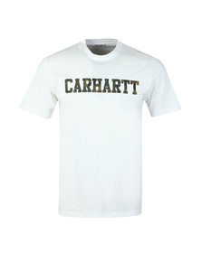 Carhartt Mens White Carhartt College Crew Tee
