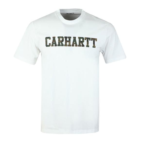 Carhartt WIP Mens White Carhartt College Crew T-Shirt main image