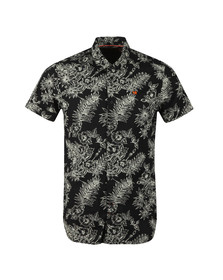 Scotch & Soda Mens Black Printed Hawaii Shirt