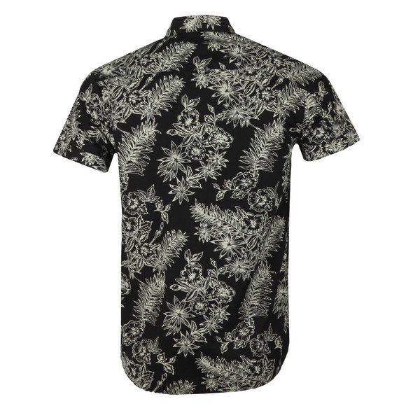 Scotch & Soda Mens Black Printed Hawaii Shirt main image