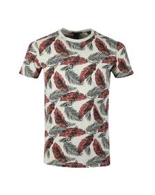 Scotch & Soda Mens Grey Crew Neck Floral Print T Shirt