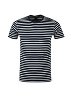 Crew Neck Striped T Shirt