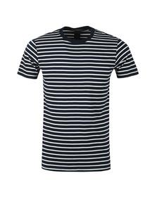 Scotch & Soda Mens Blue Crew Neck Striped T Shirt