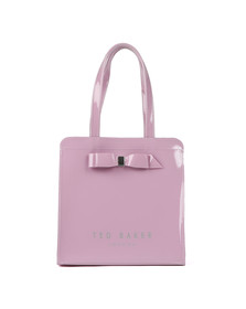 Ted Baker Womens Purple Almacon Bow Detail Large Icon Bag