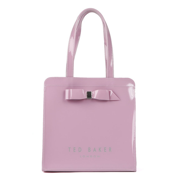 Ted Baker Womens Purple Almacon Bow Detail Large Icon Bag main image