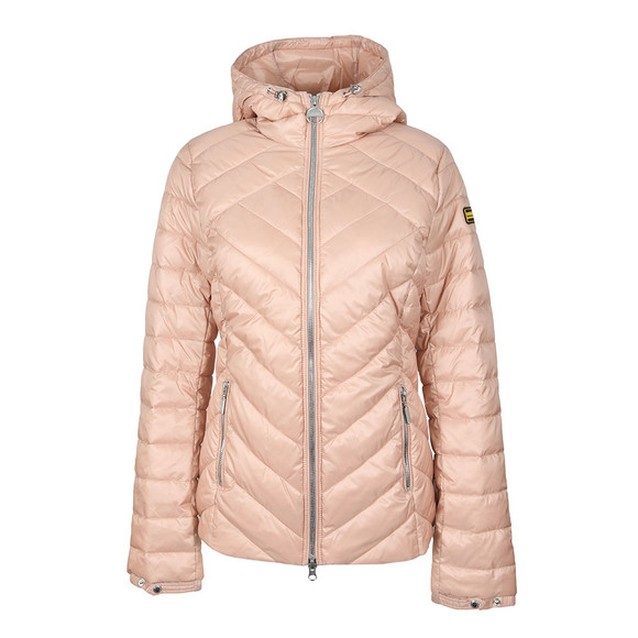 Barbour International Womens Pink Durant Quilt Hooded Jacket main image