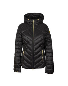 Barbour International Womens Black Durant Quilt Hooded Jacket