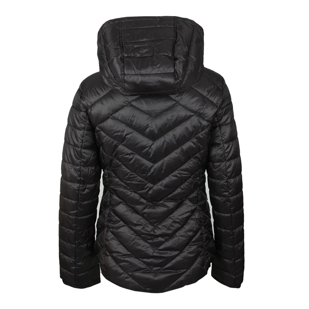 3b07f421d Womens Black Durant Quilt Hooded Jacket