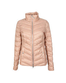 Barbour International Womens Pink Aubern Quilt Jacket