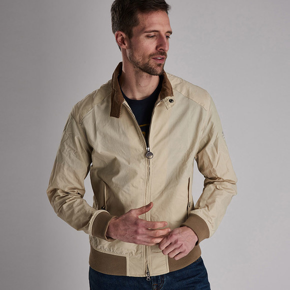 Barbour Int. Steve McQueen Mens Beige Rectifier Harrington Casual Jacket main image