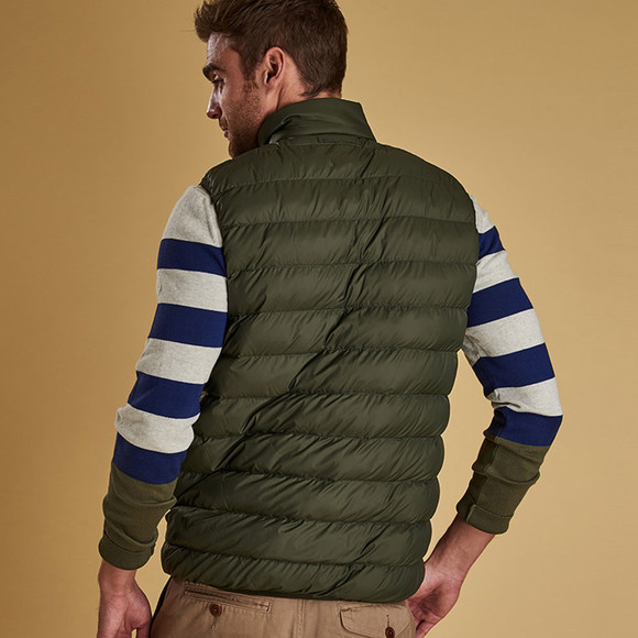Barbour Lifestyle Mens Green Crone Gilet main image