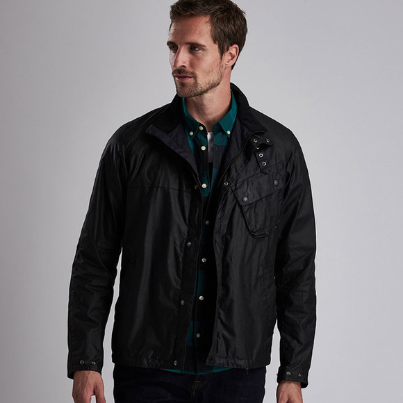 Barbour International Mens Black Beech Wax Jacket main image