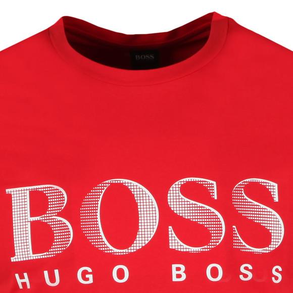 BOSS Bodywear Mens Red Regular Fit Large Logo T Shirt