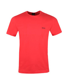 BOSS Mens Red Athleisure Tee Plain T Shirt