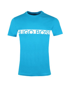 BOSS Bodywear Mens Blue Slim Fit Large Logo T Shirt