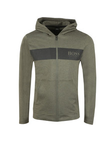 BOSS Bodywear Mens Green Contemporary Hoody