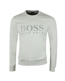BOSS Mens Grey Athleisure Salbo Crew Sweatshirt