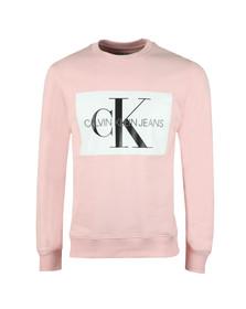 Calvin Klein Jeans Mens Pink Monogram Logo Sweat