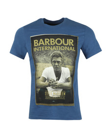Barbour Int. Steve McQueen Mens Blue Relax Tee