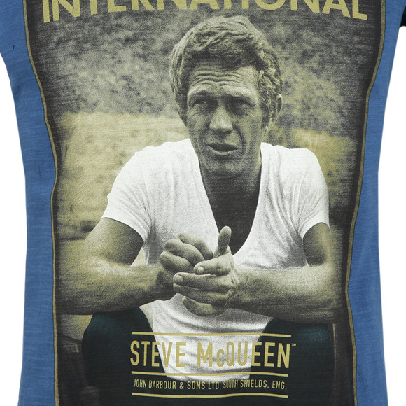 Barbour Int. Steve McQueen Mens Blue Relax Tee main image