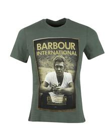 Barbour Int. Steve McQueen Mens Green Relax Tee