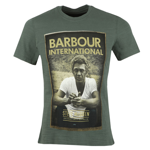 Barbour Int. Steve McQueen Mens Green Relax T-Shirt main image