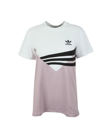 adidas Originals Womens White Panel T Shirt