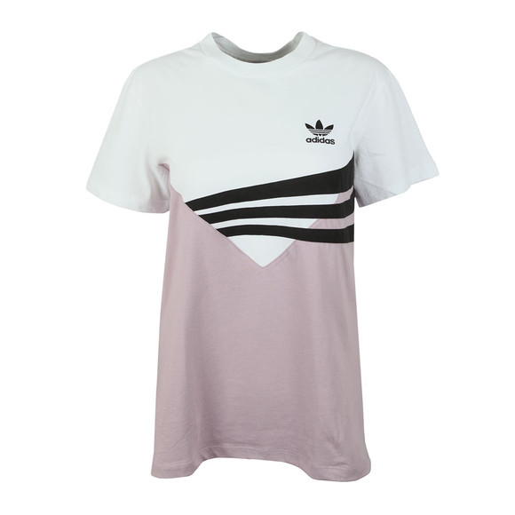 adidas Originals Womens White Panel T Shirt main image