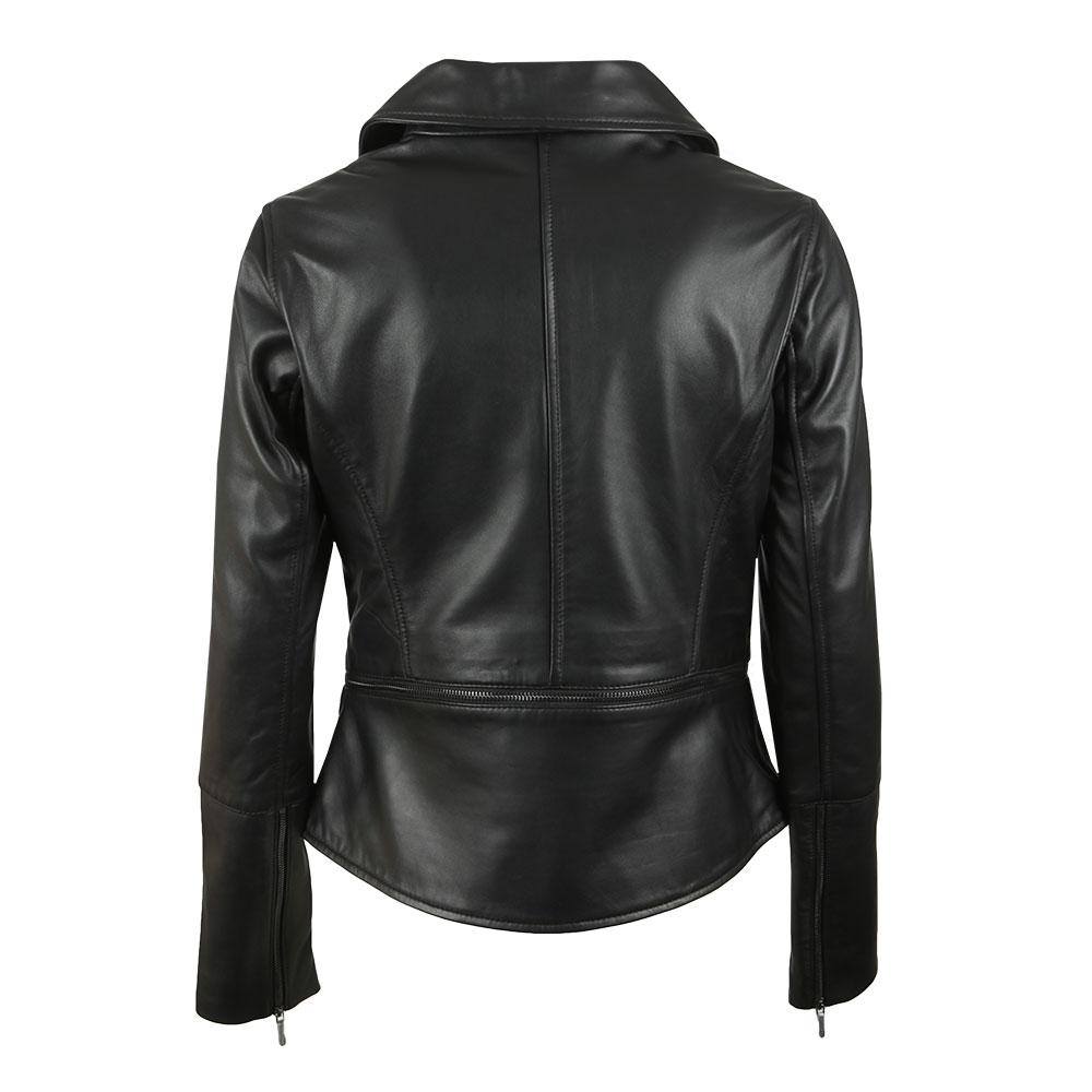 6c44d6f1b Ted Baker Womens Black Yaswin Zip Hem Leather Biker Jacket