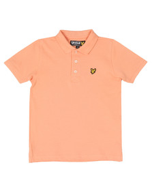 Lyle And Scott Junior Boys Orange Classic Marl Polo Shirt